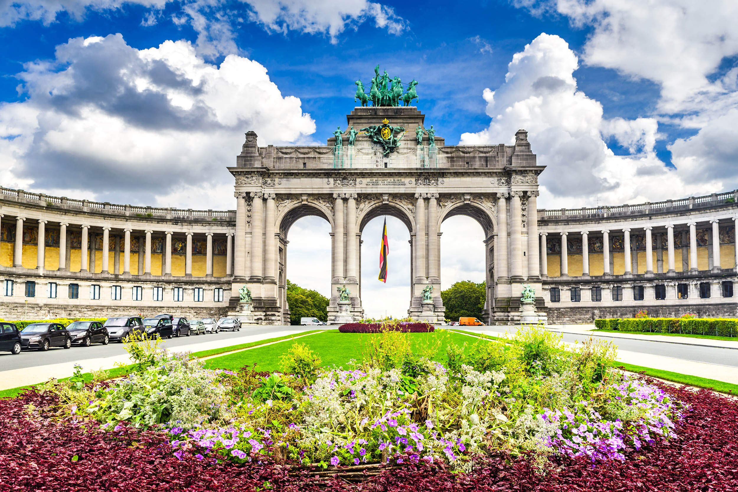 Brussels, Belgium. Parc du Cinquantenaire with the Arch built for Beglian independence in Bruxelles.; Shutterstock ID 683040256; Purchase Order: -